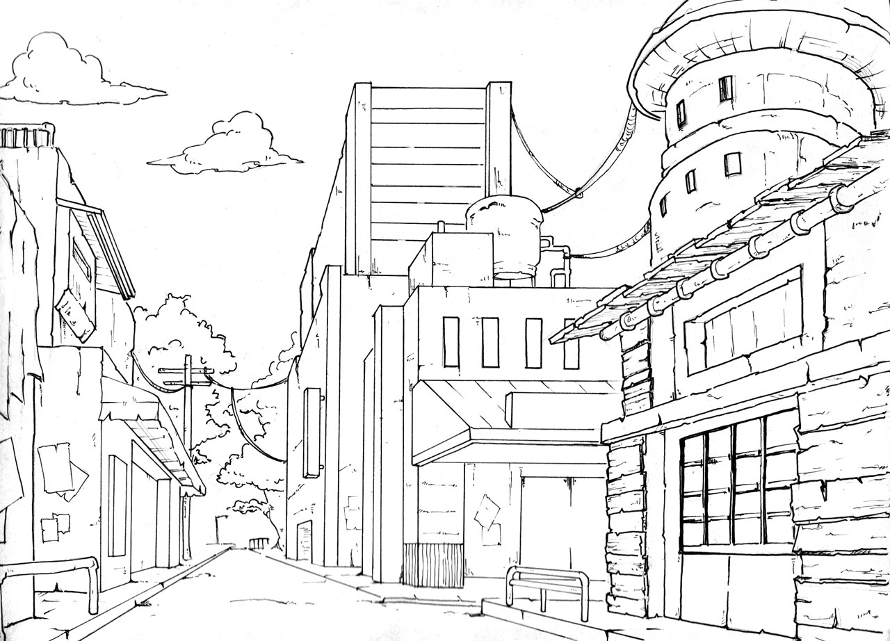 Dessiner Une Piece En Perspective Frontale. Free Pjpg With Dessiner ...