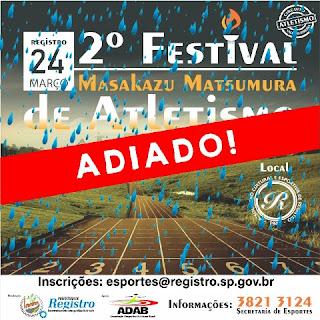 2º Festival Masakazu Matsumura de Atletismo é Adiado