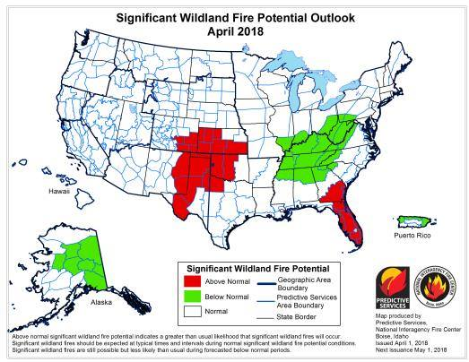 Idaho Fire Information The National Fire Potential Outlook For