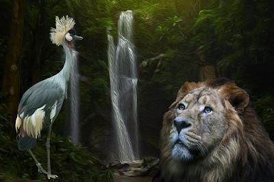 El leon y la grulla