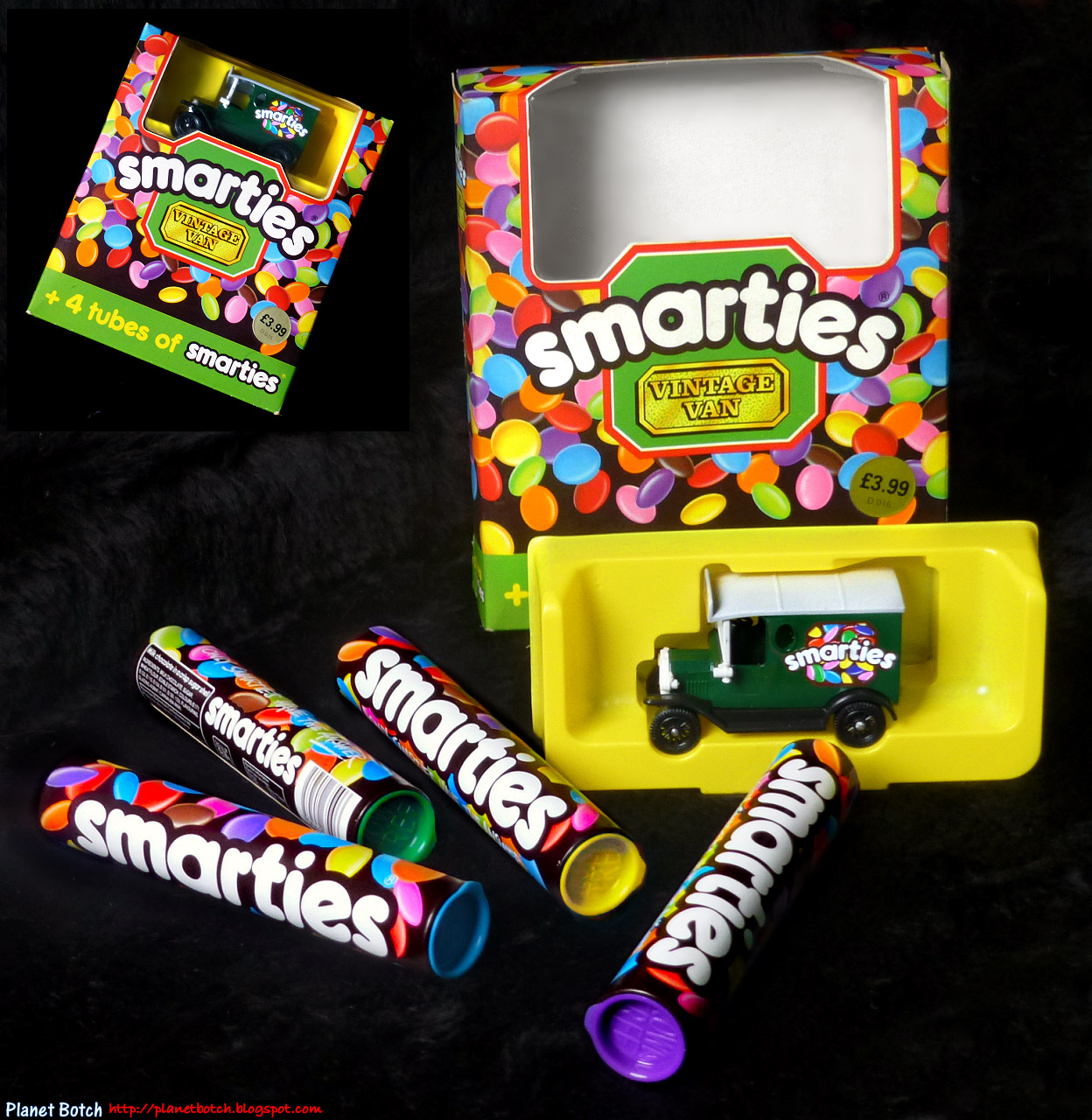 The Smarties Vintage Van Set | Planet Botch Smarties Box Design