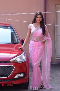 Telugu Actress Shalu Chourasiya Stills in Cute Pink Saree at Pochampally IKAT Art Mela  0008.jpg