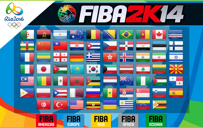 FIBA 2K14 Rio 2016 Olympics Mod