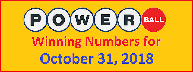 PowerBall Winning Numbers for Wednesday, 31 October 2018
