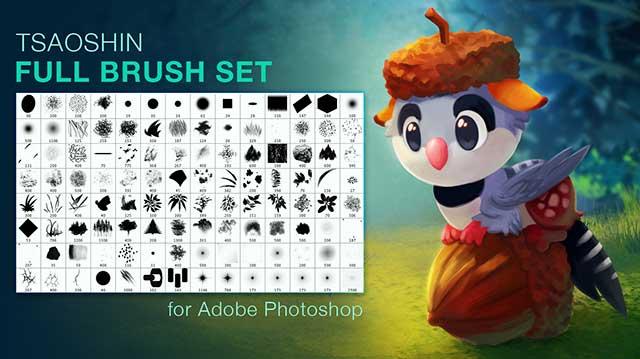 Full-Brush-Set-to-Draw-by-Tsaoshin