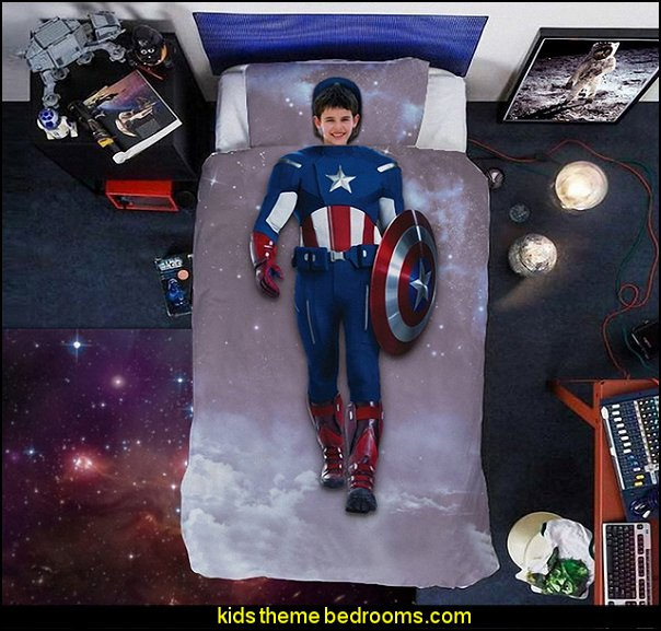 Captain America Duvet Cover Kids Bedding