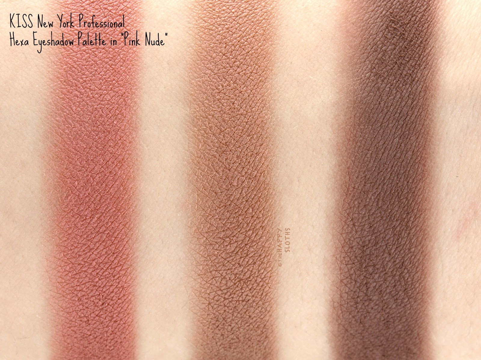 "KISS New York Professional Hexa Eyeshadow Palette in ""Pink Nude"": Review and Swatches"