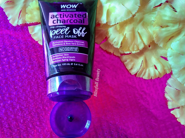 Wow Skin Science Activated charcoal peel off face mask review