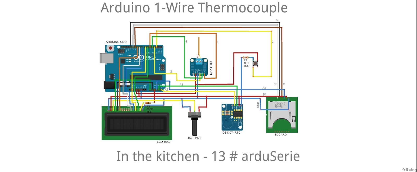 13 Arduserie Arduino 1 Wire Thermocouple In The Kitchen One Line Wiring Diagram Description This Code Disables Lcd And Sd Card To Test Rtc Serial Here Is Schematic Pinout Our Options