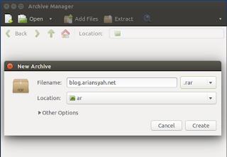 cara membuat file winrar dan winzip di ubuntu