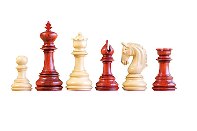 The Imperial Collectors Padauk Chess Pieces