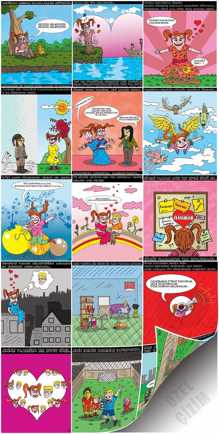 fark yaratın, Farklı Hediye, Hediye Karikatür, Hediye Çizim, Karikatür Çizimleri, Poster, sıradışı hediye,