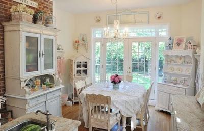 Decoracion Vintage Muy Romantica De Cocina Home Interior Design Idea - Decoracion-romantica-vintage