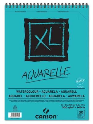 Bloc Canson XL Aquarelle para acuarela