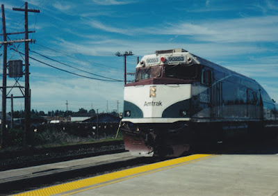 Amtrak Cascades NPCU #90253 in Vancouver, Washington on July 23, 1999