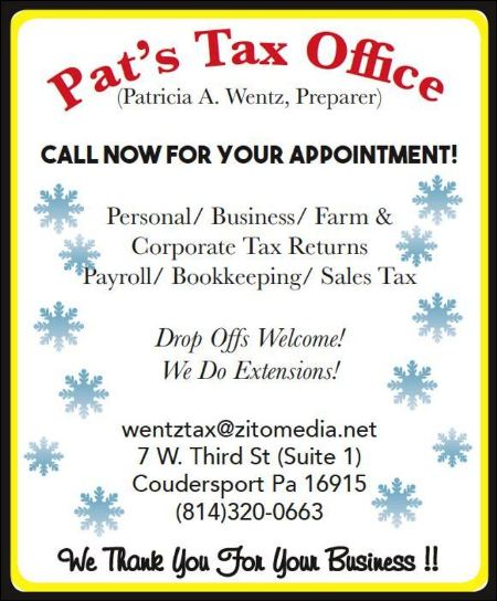 Pat's Tax Office, Coudersport, PA