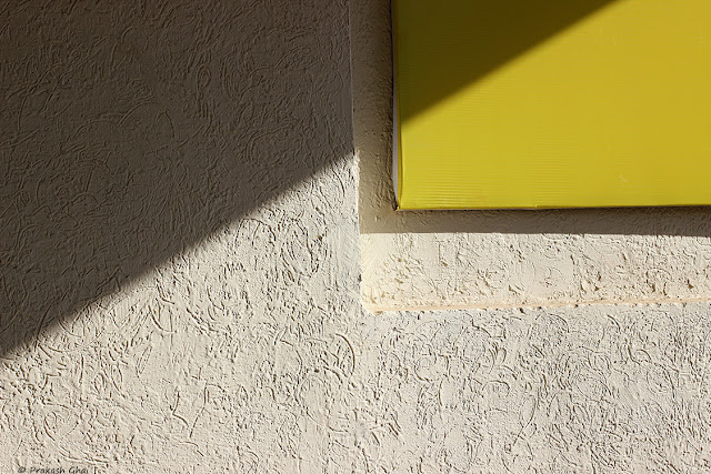 Minimalist Photo of a Yellow Rectangle.
