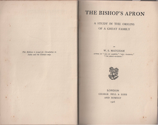 The Bishop's Apron by W. Somerset Maugham First Colonial Edition 1906, Copyright and Title Pages