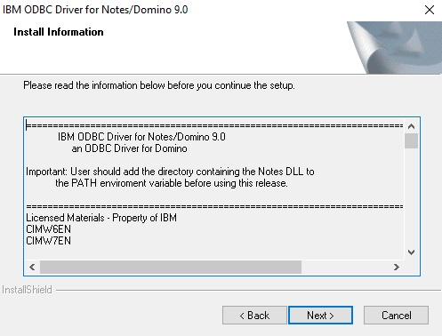 INSTALL NOTESSQL WINDOWS 7 X64 DRIVER
