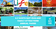 A-Z Family Attractions Annual Passes in North East England + Map