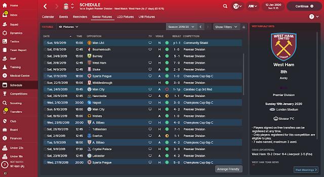 FM18 Jurgen Klopp's 4-3-3 Liverpool Gegenpress Tactic - Results