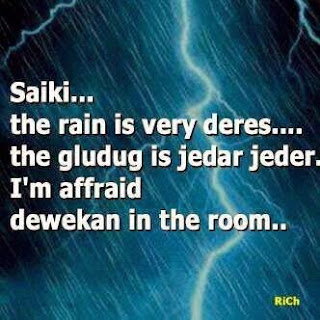 gambar dp Bbm hujan lucu