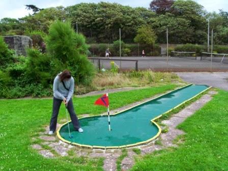 Crazy Golf at Salthouse Fields in Clevedon, North Somerset