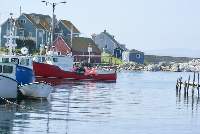 Working fishing boats at Peggy's Cove