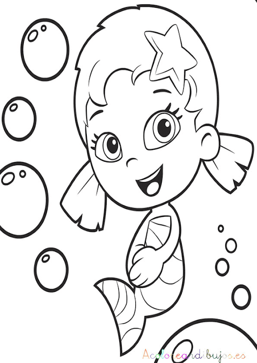 Perfecto Guppies De Burbujas Para Colorear Libros Modelo