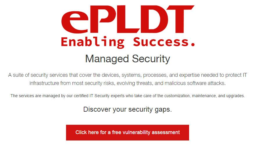 ePLDT FREE Vulnerability Assessment