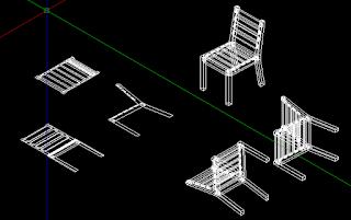 hasil perintah solprof gambar kursi