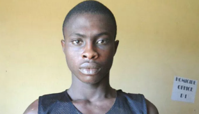 Photo: Police arrest 23 year old man for beheading 72 year old woman in Ogun state
