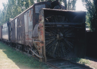Northern Pacific Rotary Snow Plow #10 in Snoqualmie, Washington, in August 1998
