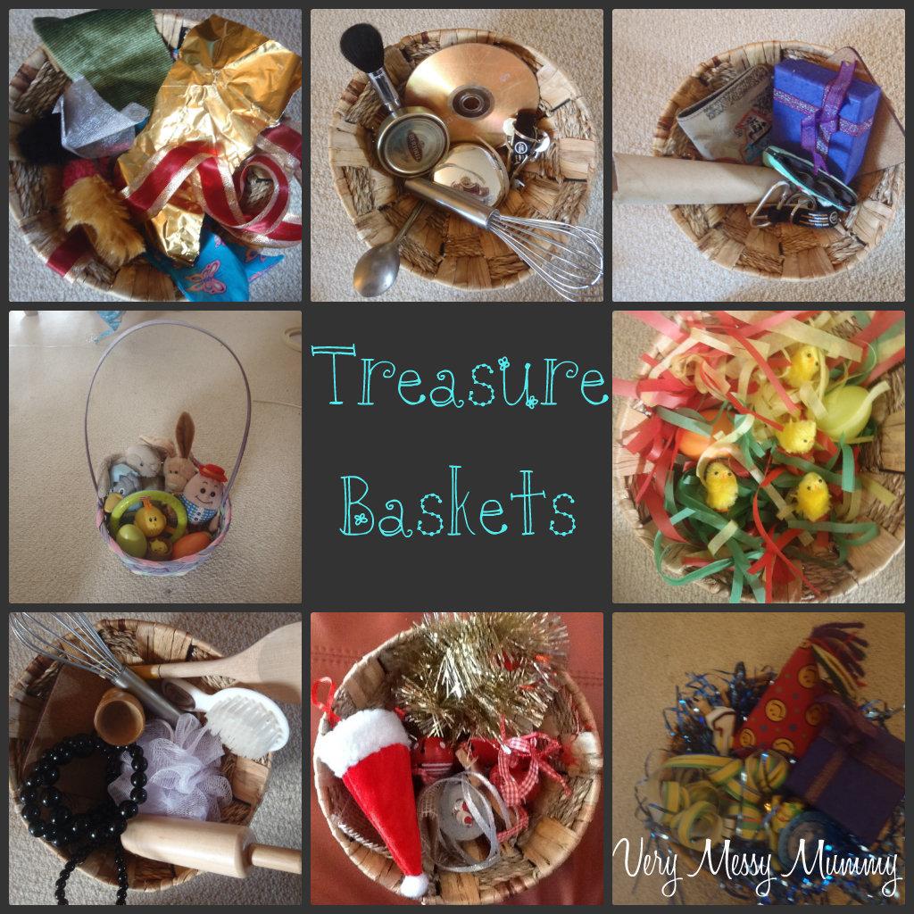 Very Messy Mummy Treasure Baskets