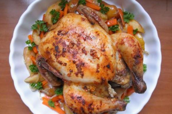 курица с овощами и грушами фото