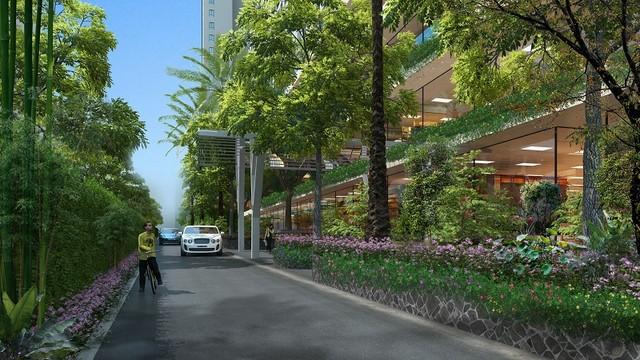 Không gian xanh chung cư ECO LAKE VIEW