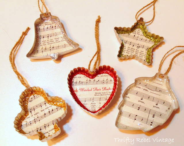 Vintage cookie cutter ornaments tutorial