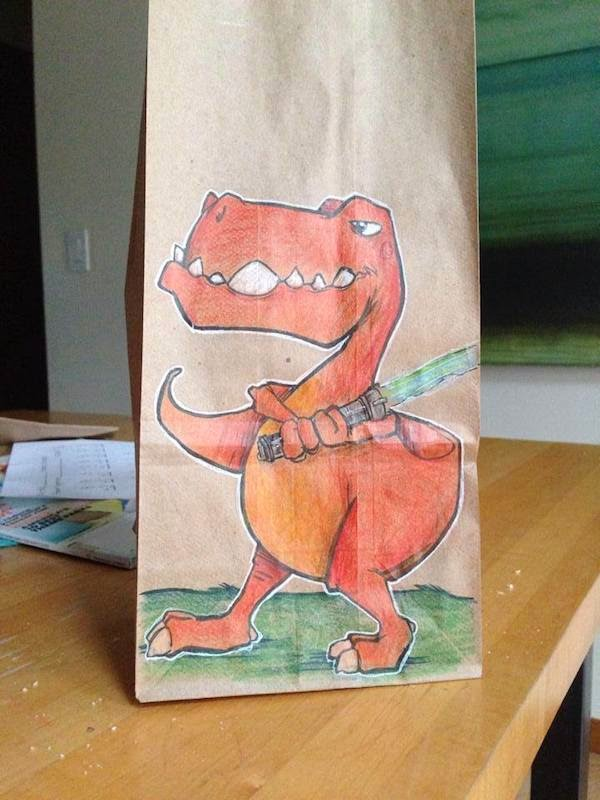 lunch bag funny illustrations