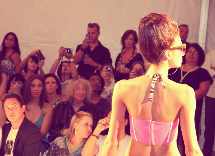 Swim trends for 2013 as seen at Mercedes - Benz Fashion Week, Miami. Dolores Cortés