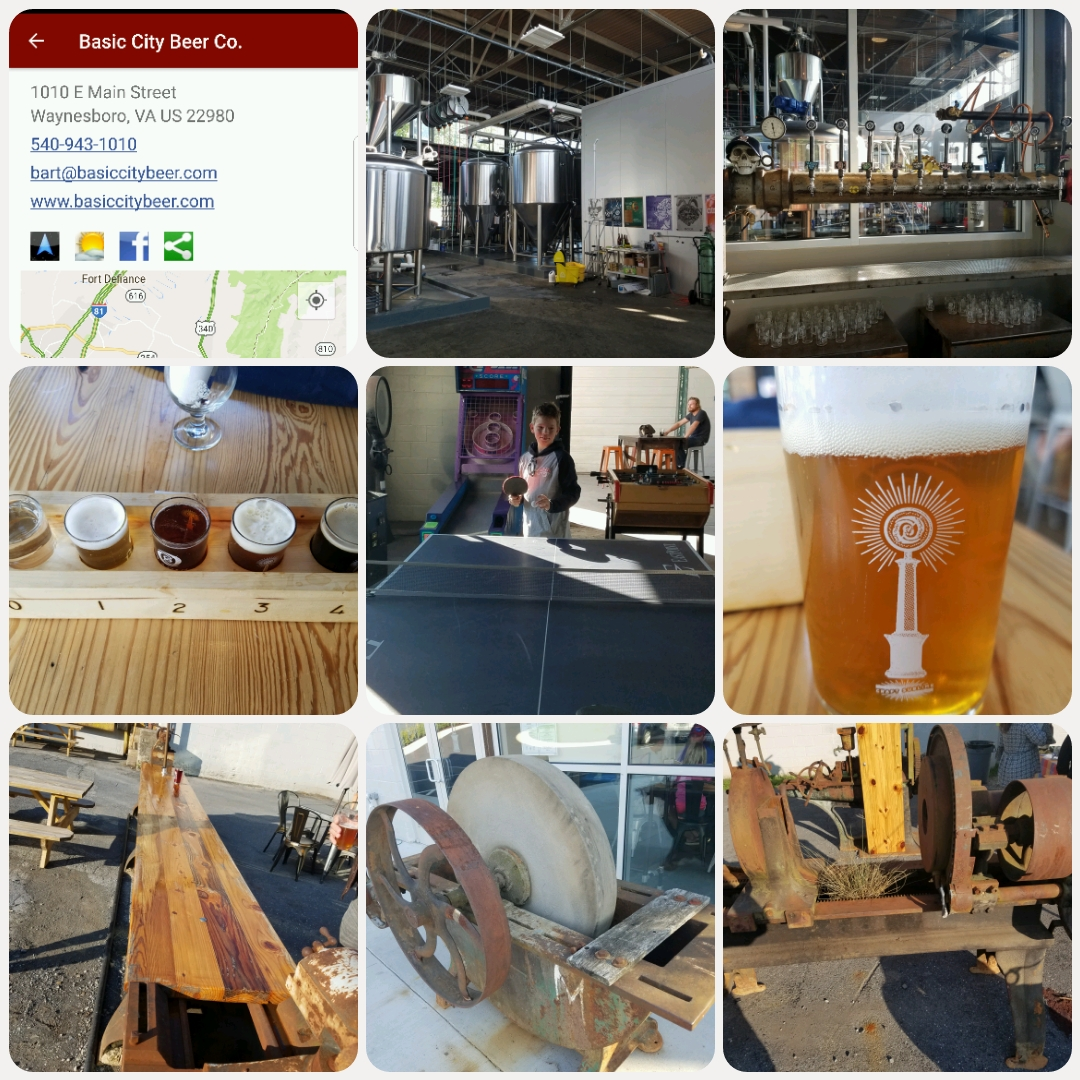 During The Same Weekend We Visited Adventure Farm We Parlayed A Swim At Sherando Lake With A Visit To Waynesboro S Basic City Beer Company