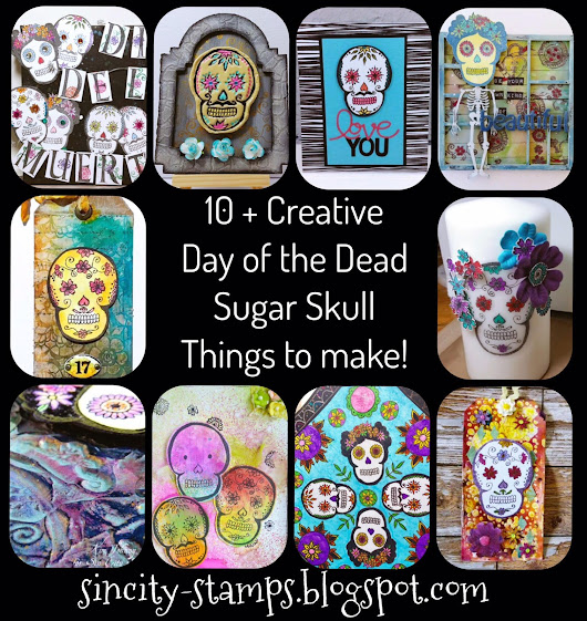 Day of the Dead Sugar Skull Stamps Blog Hop!