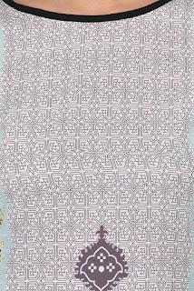 Allesia Grey and Black Digital Print Crepe Kurti by FashionDiya Rs. 429