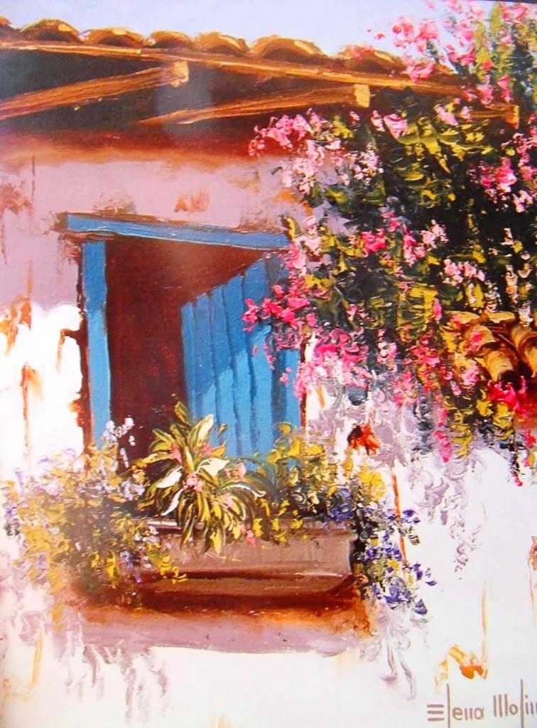 Cuadros modernos pinturas y dibujos paisajes costumbristas con esp tula de elena molina colombia - Paredes pintadas a cuadros ...