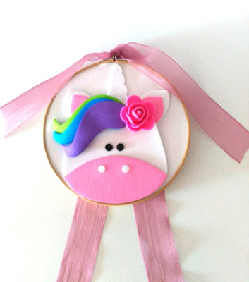 bastidor, goma eva, unicornio, diy, handmade