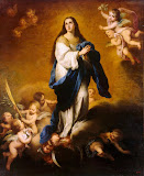 Esquilache Immaculate Conception by Bartolome Esteban Murillo - Christianity Paintings from Hermitage