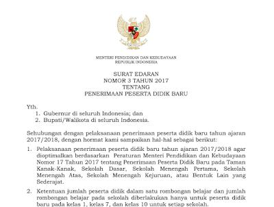 REGULASI TENTANG PENERIMAAN SISWA BARU 2017/2018 1