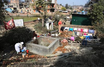 Nepal Bungamatiの井戸の洗濯場