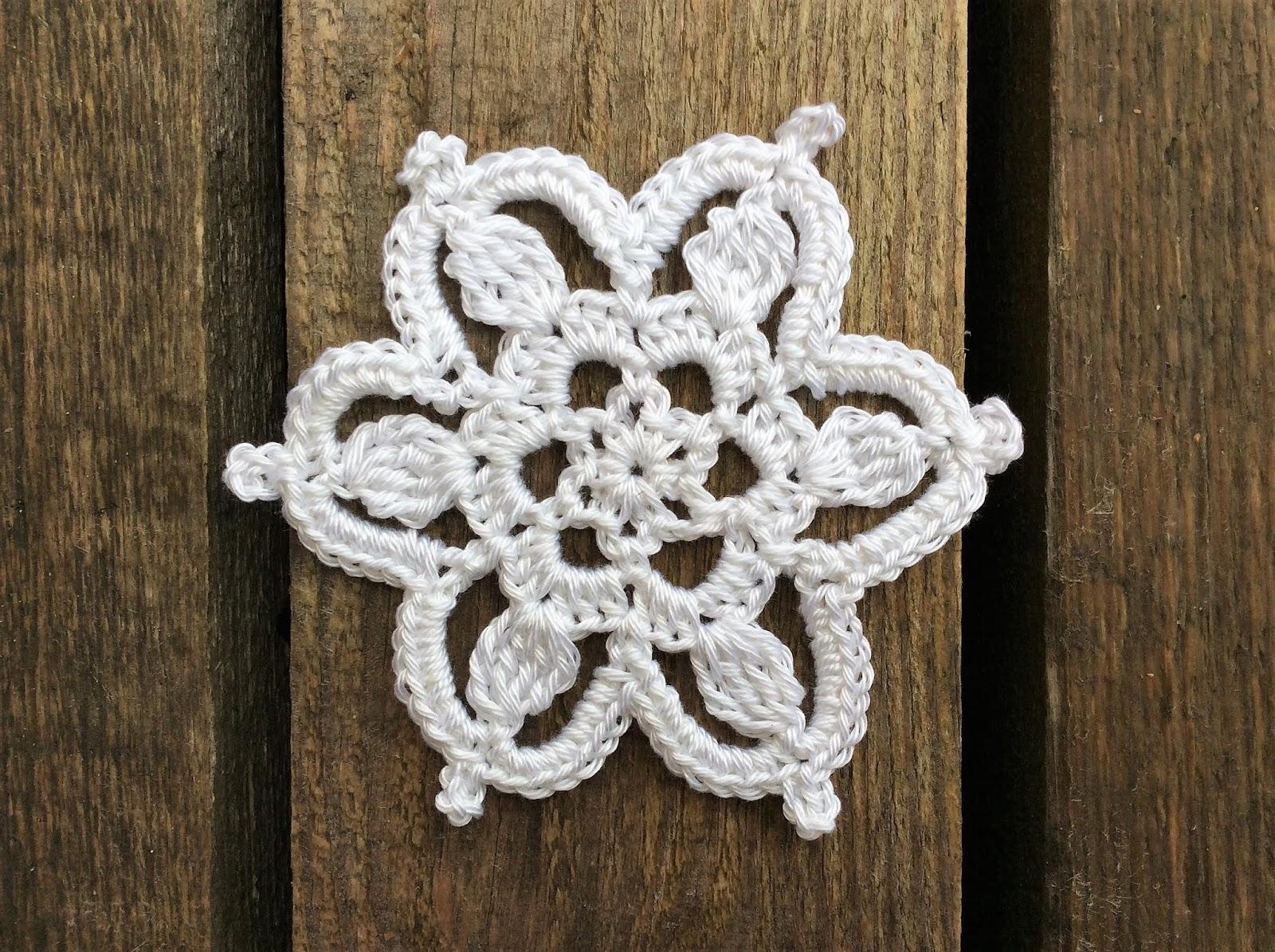 Kristinescrochets Crochet Snowflake Ornamet Motif Free Pattern