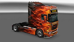 Scania RJL Fire paint job