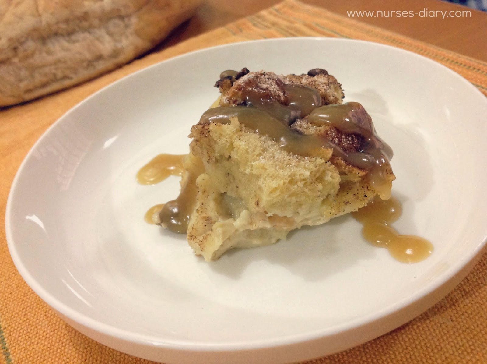 Bread Pudding Recipe with Custard Sauce